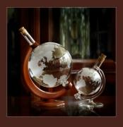 Christmas gift - globe glass (handmade )