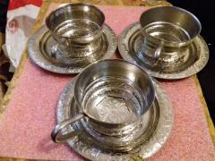 Cup holders and saucers Melchior USSR