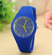 Fashion silicone GENEVA watch (assorted colors)