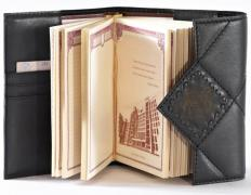 Leather diaries, handmade