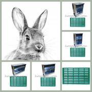 Металеві годівниці для кроликів