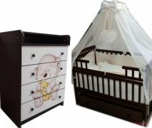 Promotion! Premium kit! New! Dresser, bed, mattress, bed