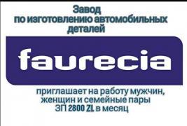 Разнорабочий на завод Faurecia (Польша)
