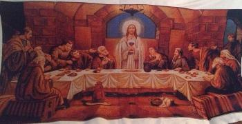The last supper embroidered cross