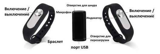VR-06 Умный браслет цифровой диктофон 4 ГБ встроенной памяти