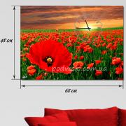 Wall clock on canvas 30x50 cm with our or Your photo